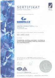 Sertifikat ISO 14001:2015